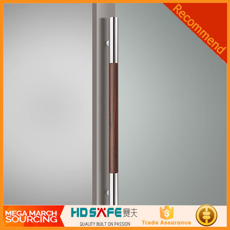 H shape Stainless steel pull handles for office glass doors