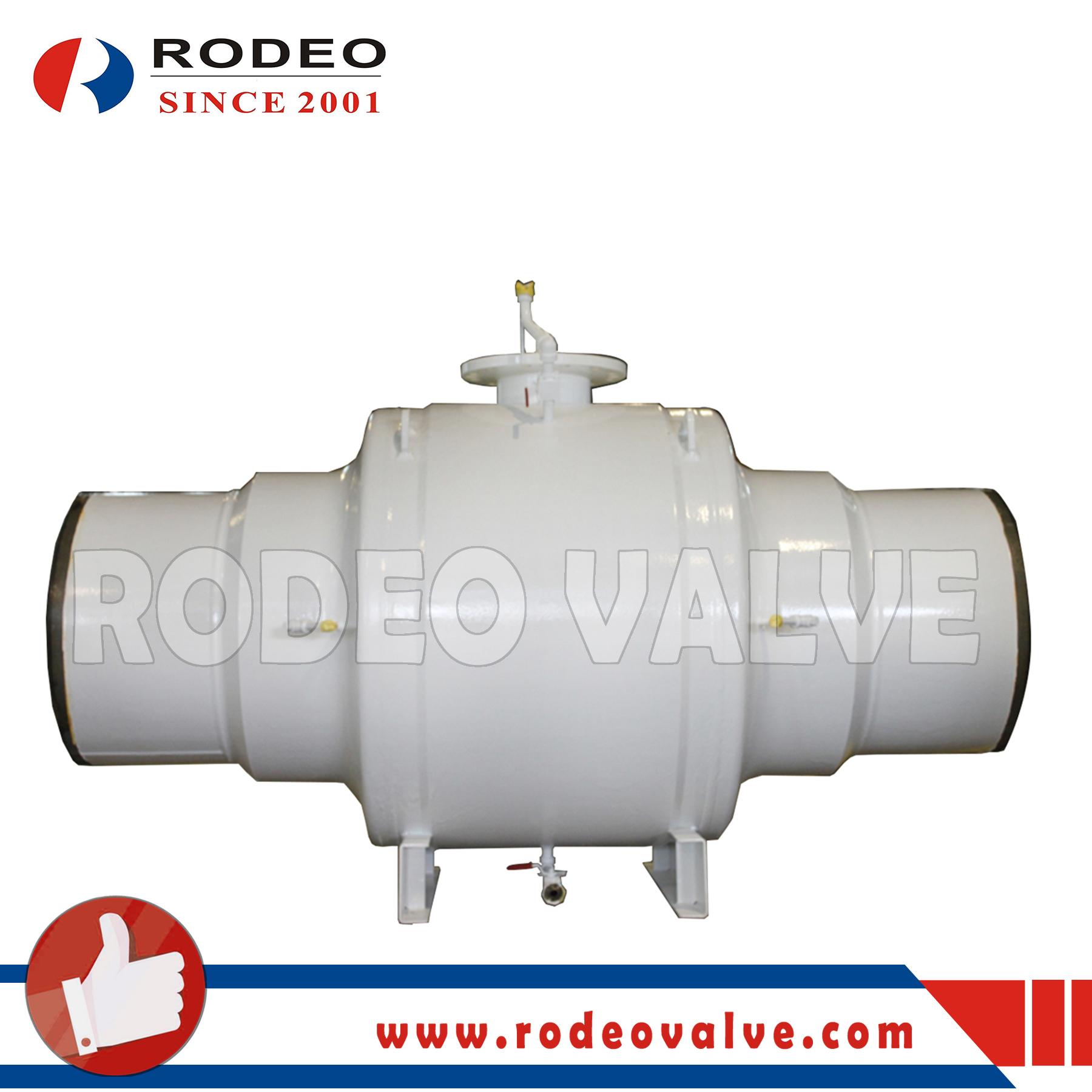 Fully-welded carbon steel ball valve