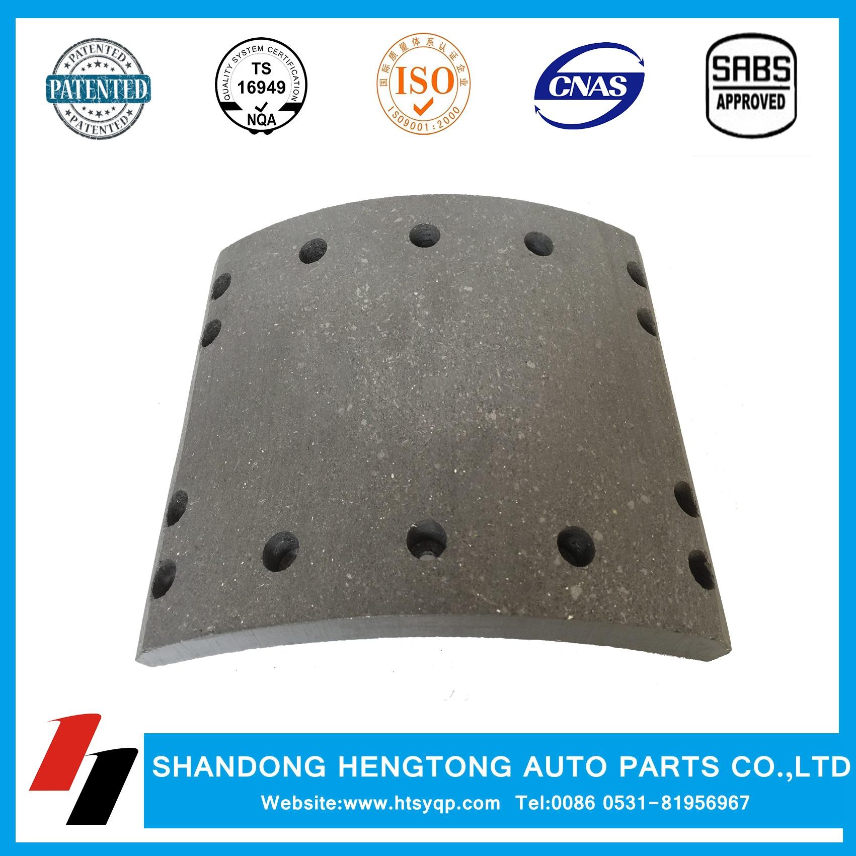 Brake lining non-asbestos/semi-metal for DAF brake system
