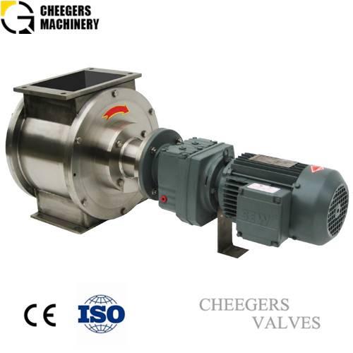Rotary airlock valve for powder handling