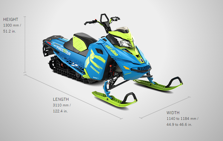 Brand new 2017 Ski-doo snowmobile Freeride 137