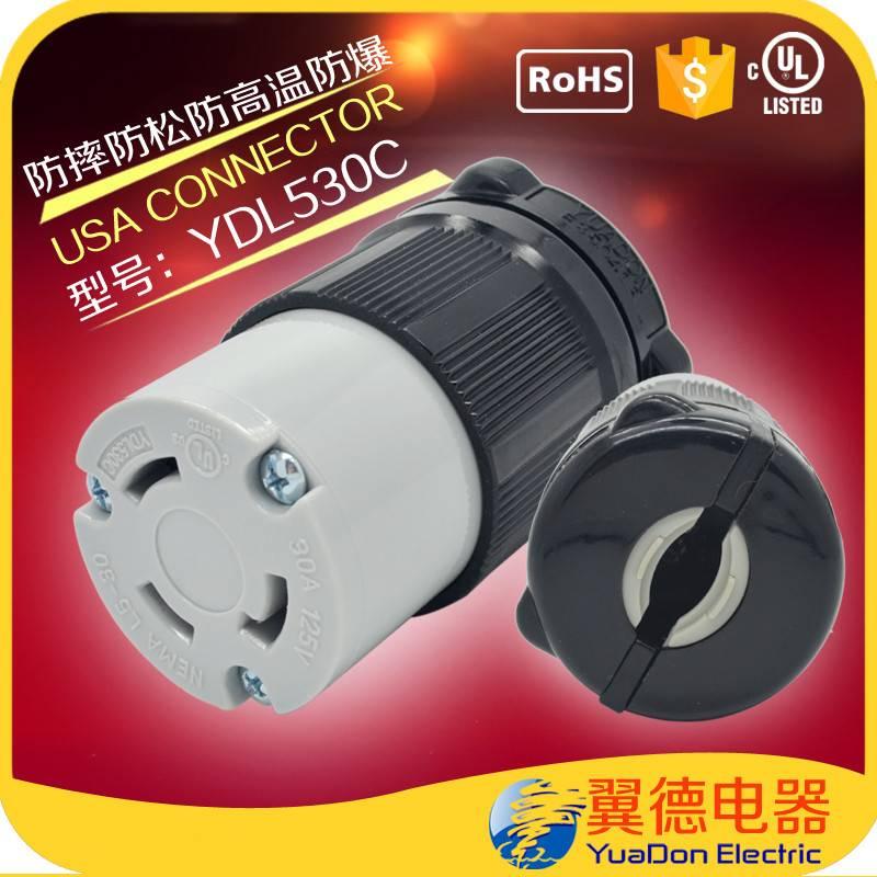Nema L5-30C 30 Amp 125 Volt Flanged Outlet Locking Receptacle