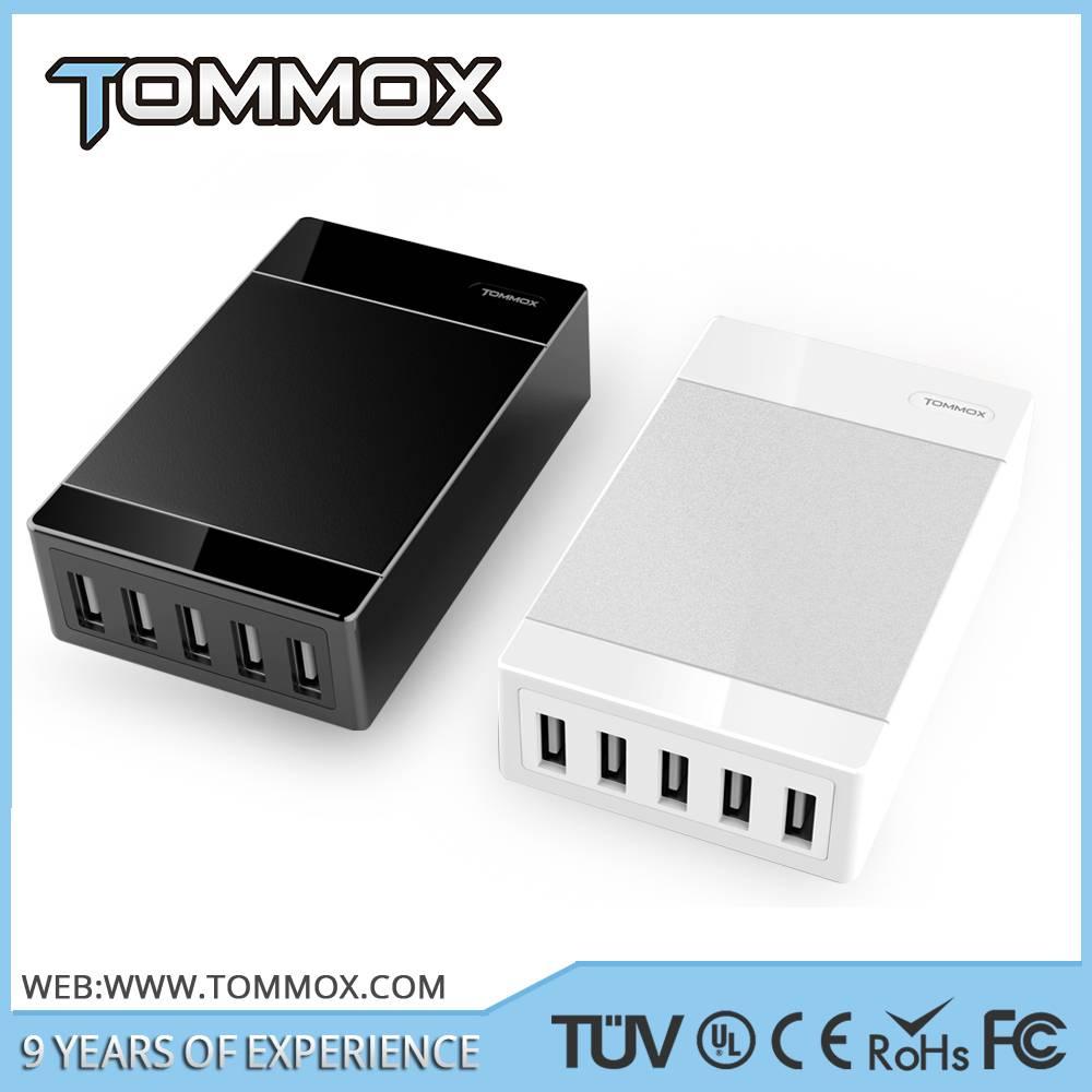 universal 5 USB port 5V 8A 40 Watts USB charger EU type socket ac power Multi port USB charger