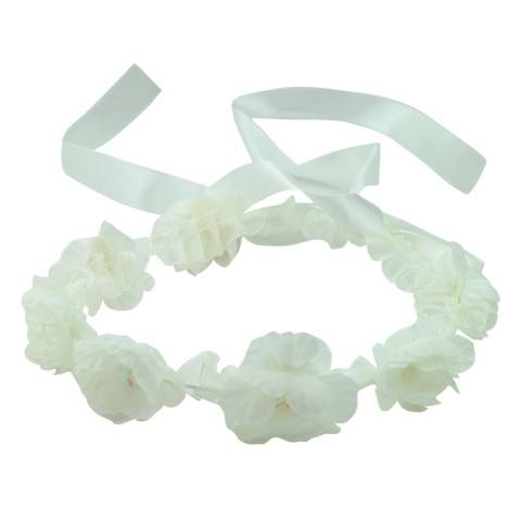 White-flower-wreaths-headpiece-wedding-with-ribbon-and-lace 0826