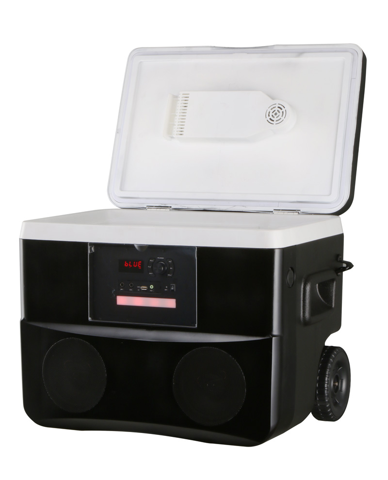 50 Liter Outdoor Ice Chest coolest Rolling Speaker wheeled Party Cooler Box