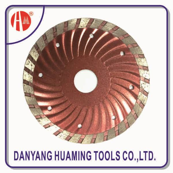 high quality power tool turbo wave circular saw blade for dry cutting stone in china