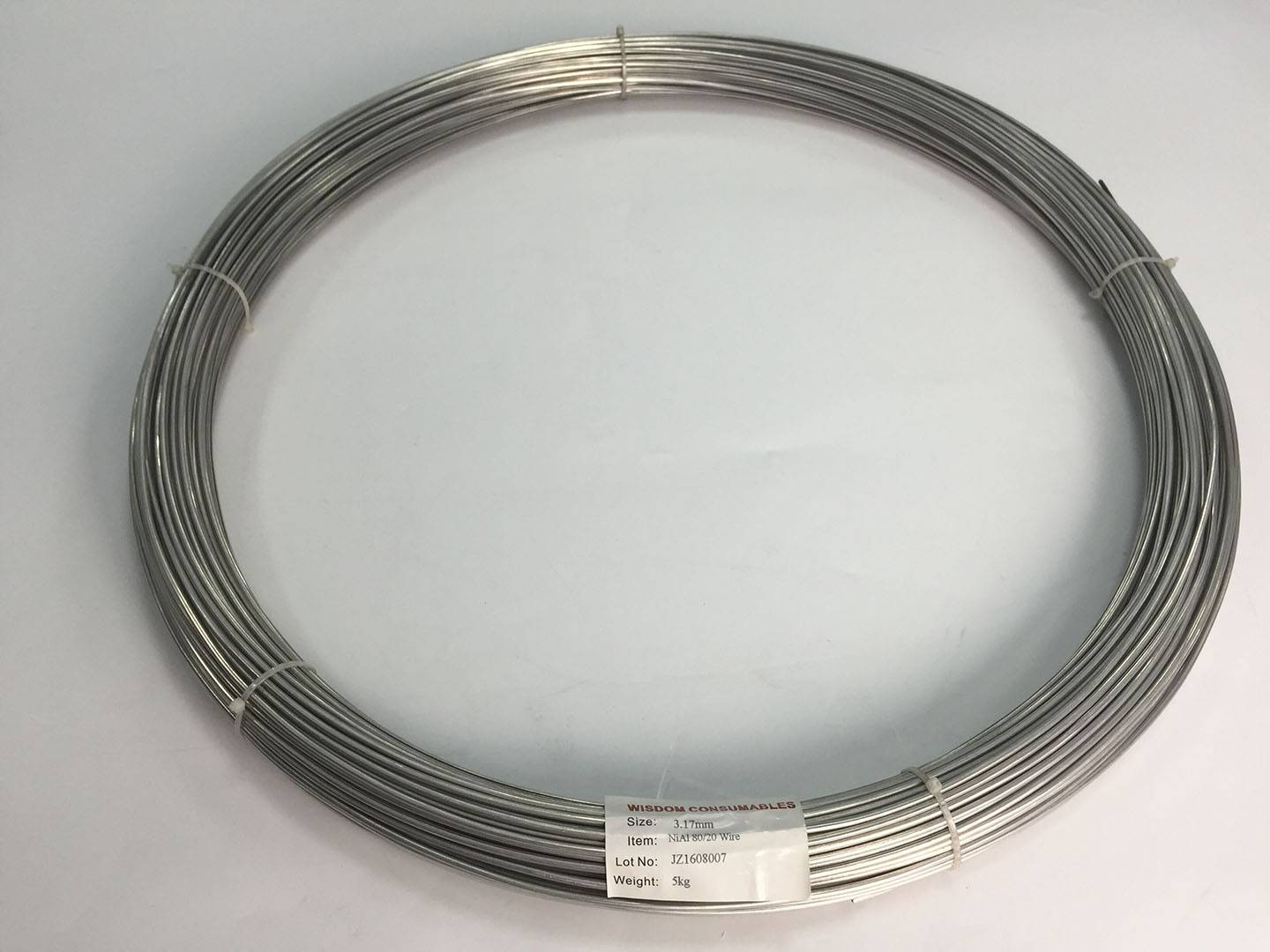 NiAl 8020 wires for thermal spraying, equal to TAFA 79B, Metco 405