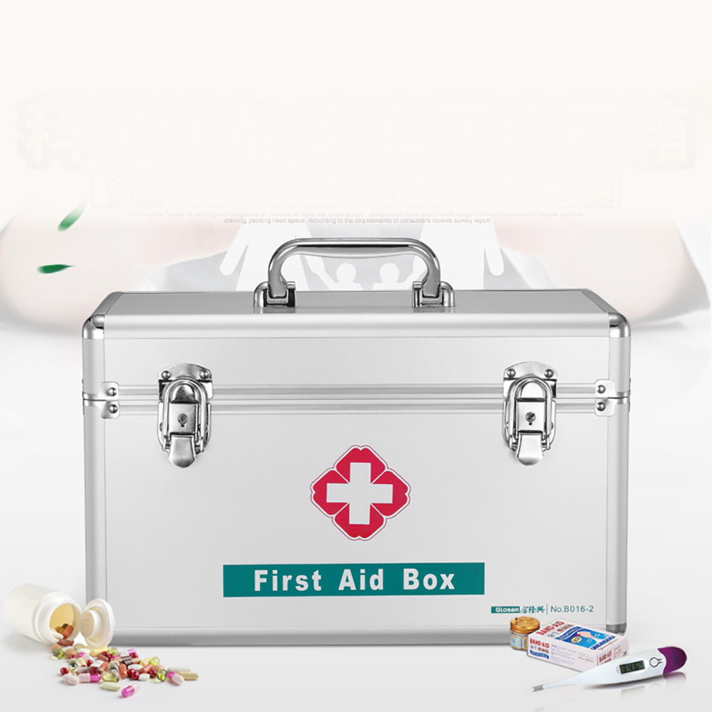 Small Size Aluminum First Aid Box with Security Lock B016-5