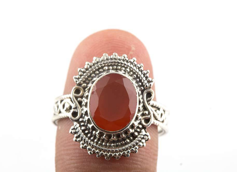 92.5 sterling silver Carnelian Ring