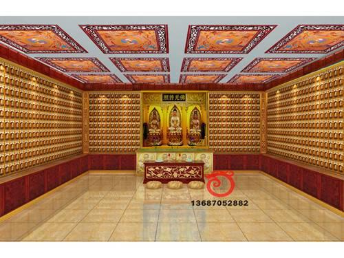 Thousands of buddha wall