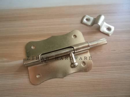 Welding cellar window bolt ,brass plated