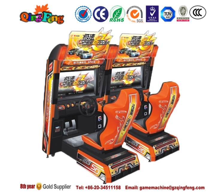 Qingfeng GTI hot sale coin operated car racing  simulator machine arcade game machine video games ma