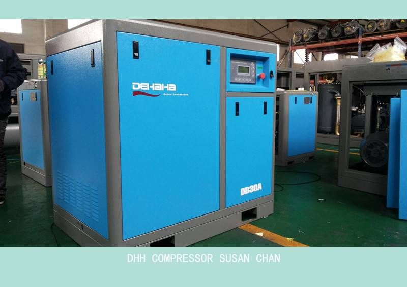 22kw screw air compressor for plastic machine