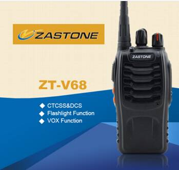 UHF Frequency Cheap Walkie Talkie Zastone Portable Cheap FM Radio