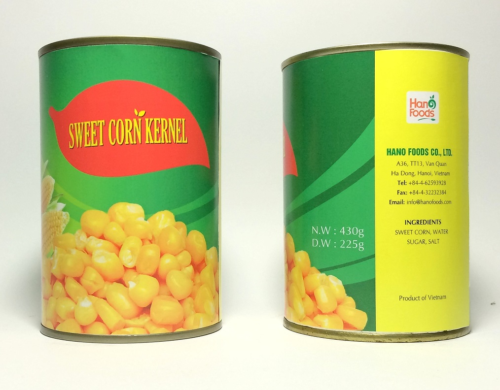 Canned Fresh Sweet Corn Kernel