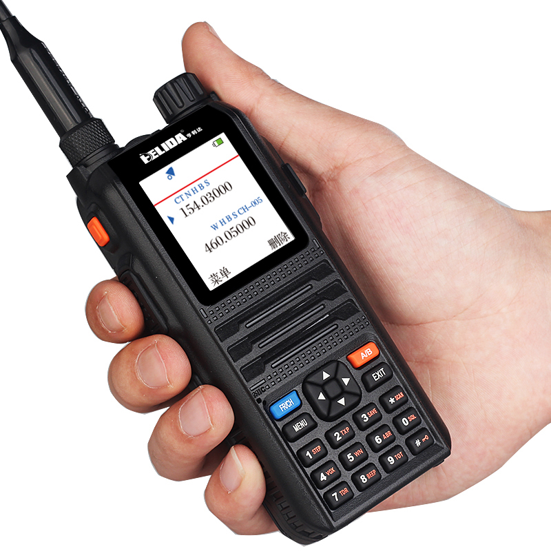 Color Display Two Way Radio Professional Transceiver 5W 128 Channels CP-UV2000 VHF/UHF Tri-Band