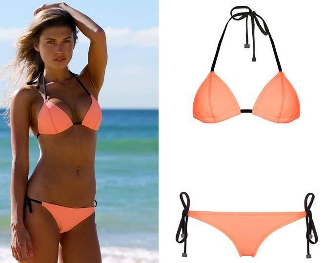 Hot neoprene string bikini swimwear women bathing