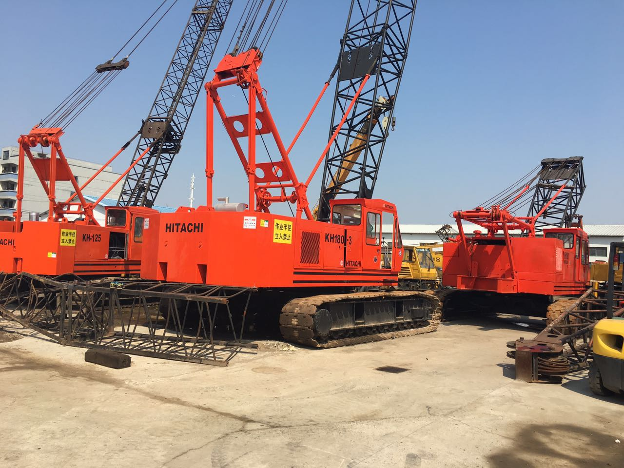 Hitachi KH180 crawler crane, 50 55 ton Japan original crawler crane hot in sale