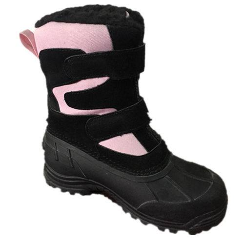 black and pink suede upper boots fashion women type