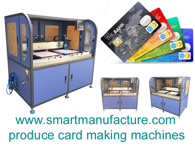 SMNCM-3 RFID Contactless Smart Card Module Punching and Placing Machine