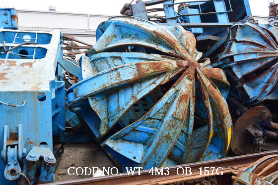 USED ORANGE PEEL BUCKET(CAPACITY 4M3) MADE IN JAPAN