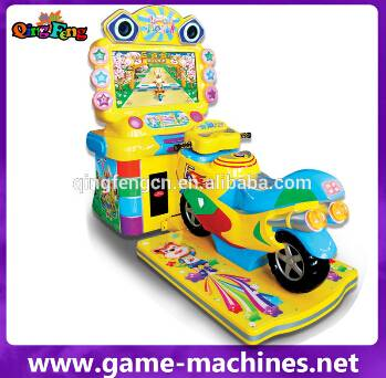 Qingfeng factory price supper bike 2 racing car bicycle game machine entertainment machines