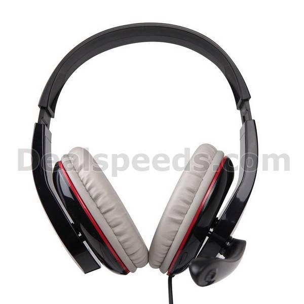 SADES SA701 White Computer Headset With Rotatable Mircophone
