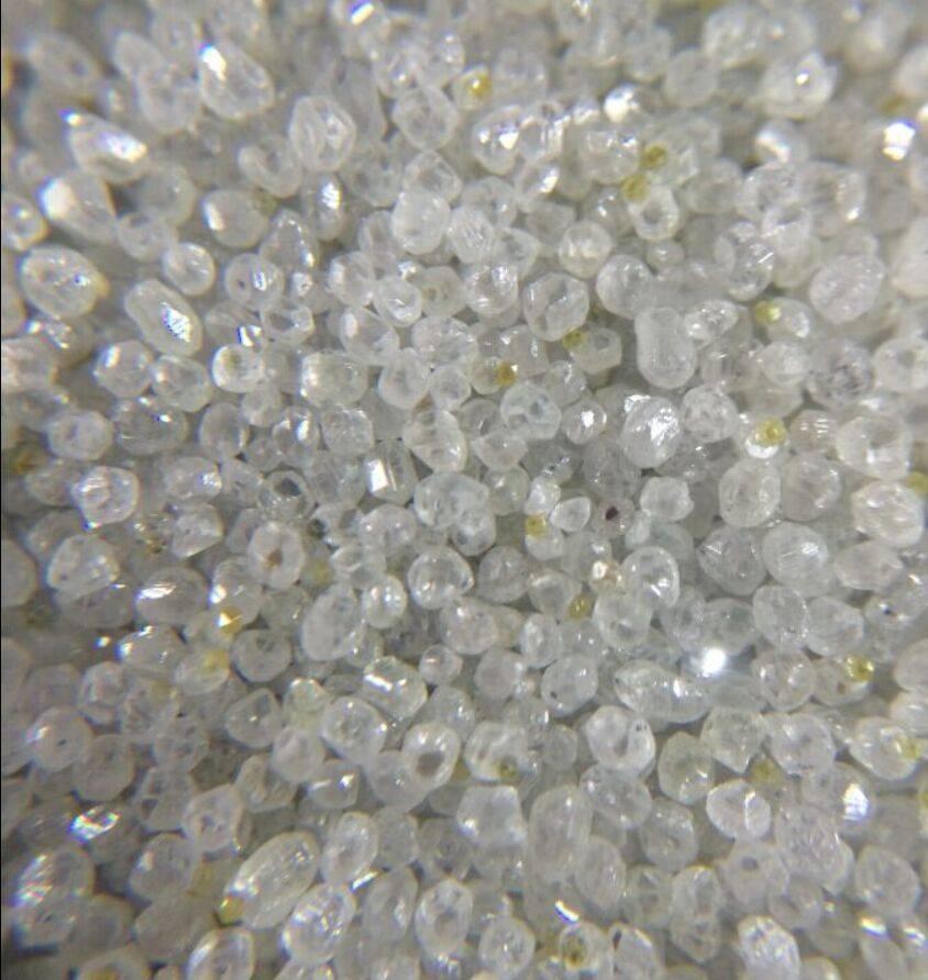 Rough white HPHT synthetic diamond round