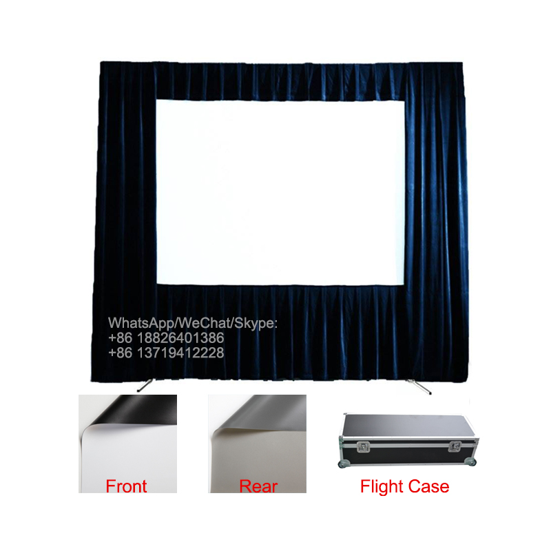 """120"""" 150"""" 180"""" 200"""" inch outdoor portable front and rear projection fast folding projector screen"""
