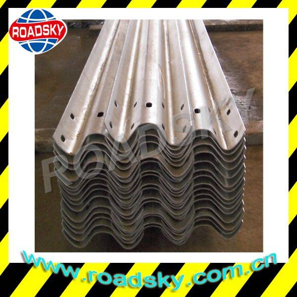 Road Safety Corrugated Stainless Steel Flexbeam Guardrail