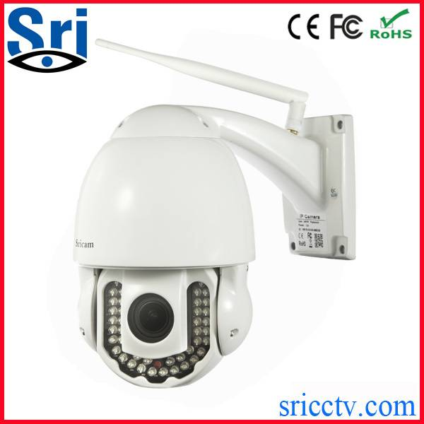 H.264 pan tilt wireless outdoor dome ptz ip camera with iphone app and Android App