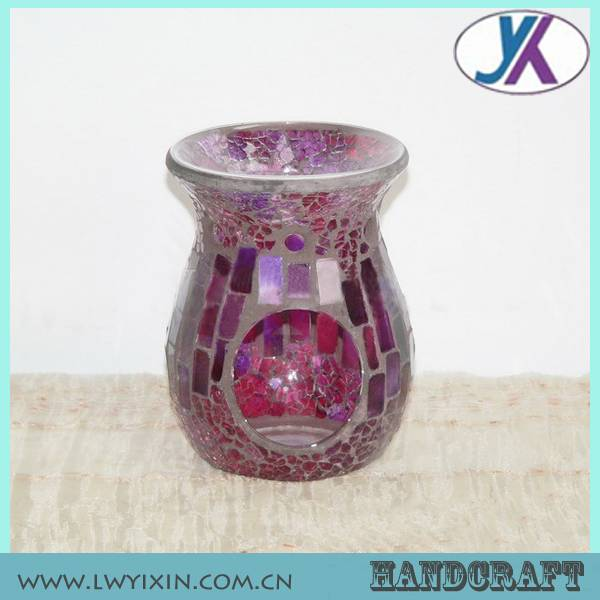 Yixin fancy mosaic oil burner &glass fragrance diffuser