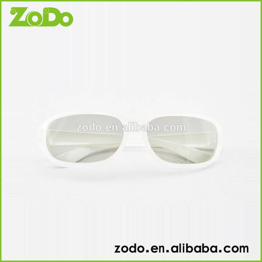 white color fashional Circular Polarized 3D Glasses
