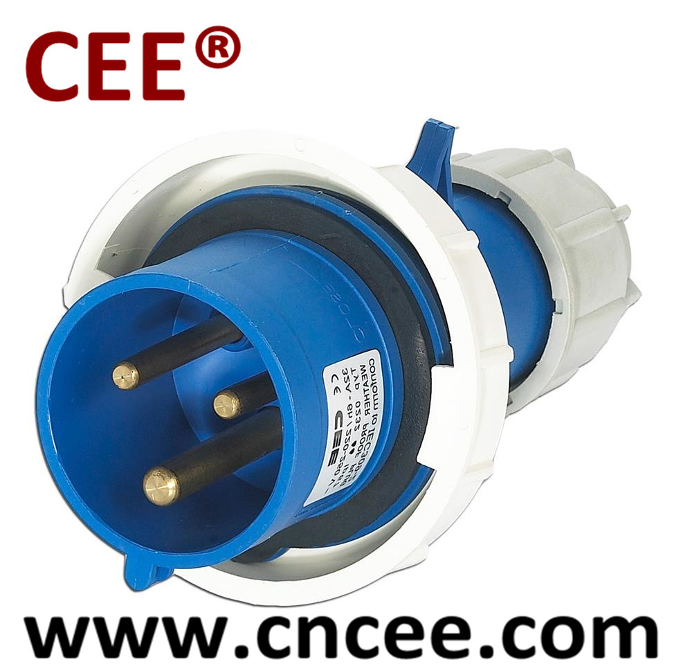 CEE industrial plug male plug