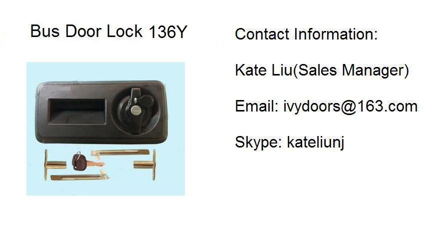High Quality Out swing bus door lock assembly 136Y(Toyota Coaster ,ANKAI,YUTONG,KING LONG)