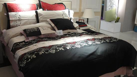 Kuwait market 6pc single size embroidery comforter set
