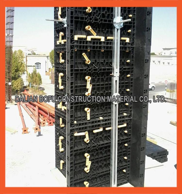 Latest Concrete Formwork Used Construction Adjustable Plastic Column Formwork