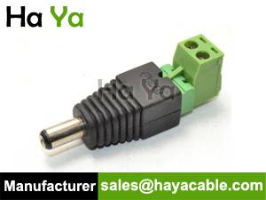 DC Male Connector with Removable Terminal Block