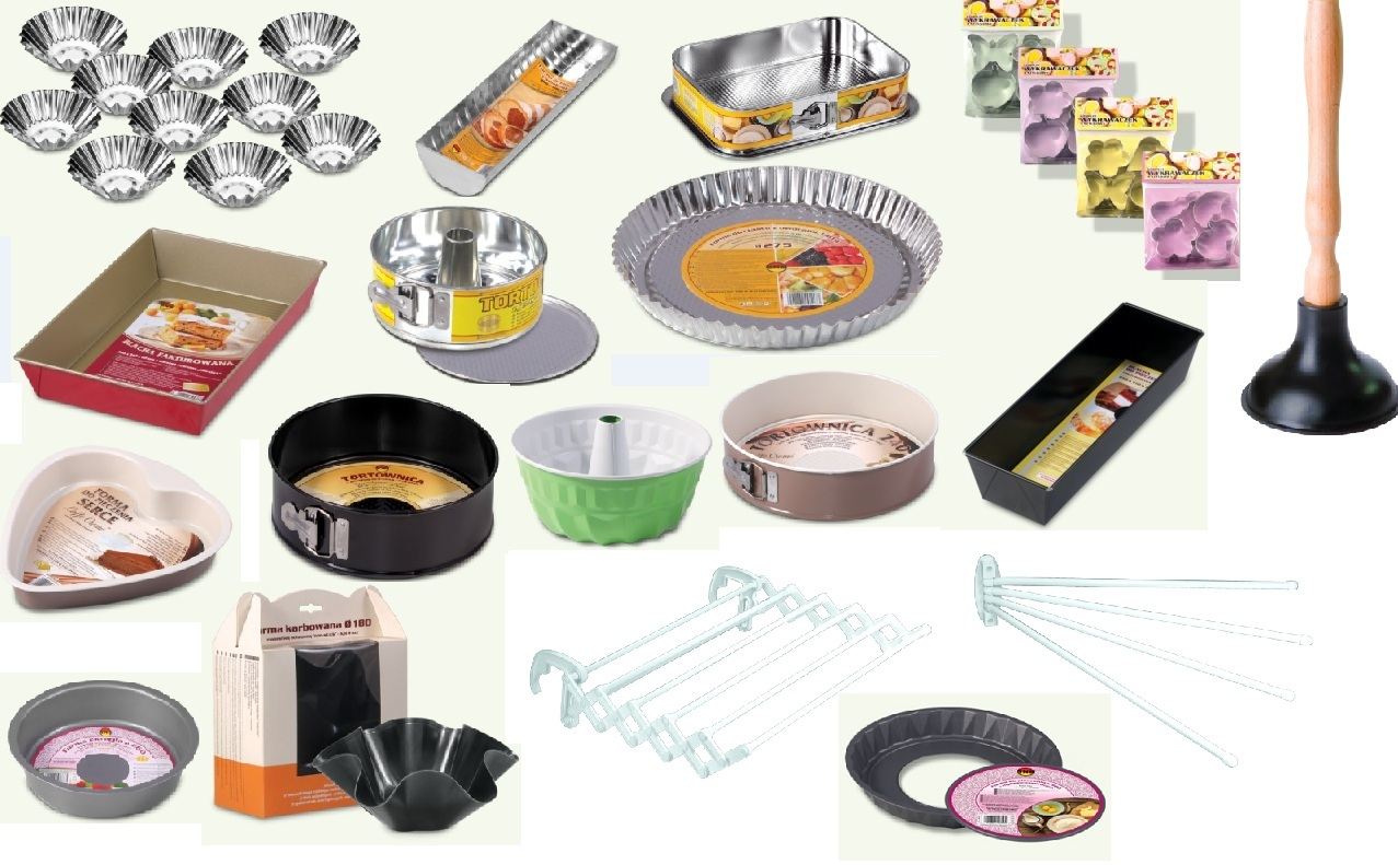 Springform pans, baking trays and molds, home dryers
