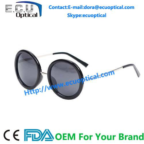 2014 designer women alloy round frames sun glasses lovely fashion sunglasses china Supplier factory