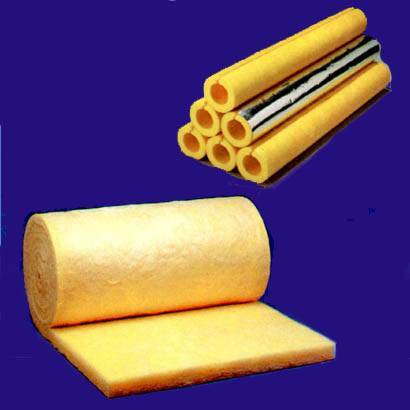 Glass wool pipe and blanket