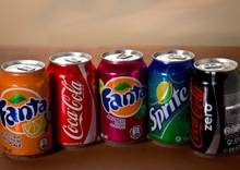 Coca Cola, Fanta, Sprite, Pepsi