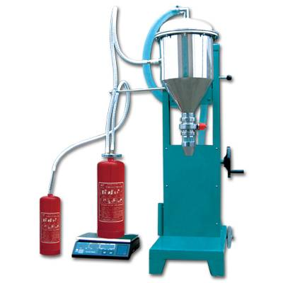 Fire extingusher filling machine