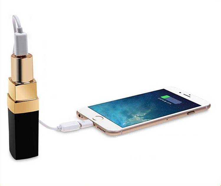 mini size patent portable lipstick power bank