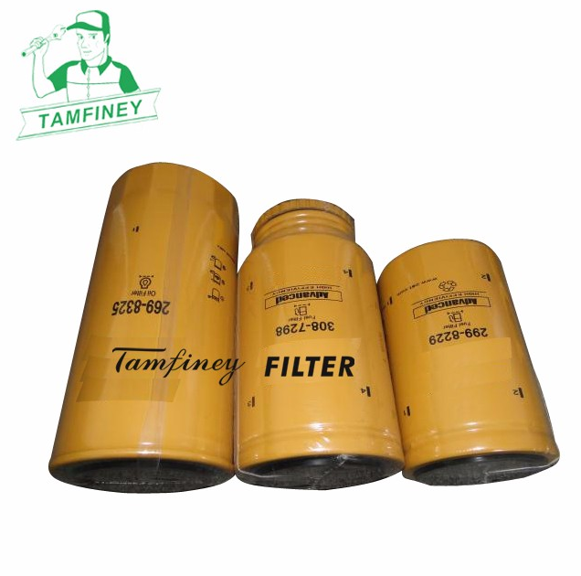 Engine oil filter kits for cat 269-8325 308-7298 299-8229 2698325 3087298 2998229 and 2654A111 2656F