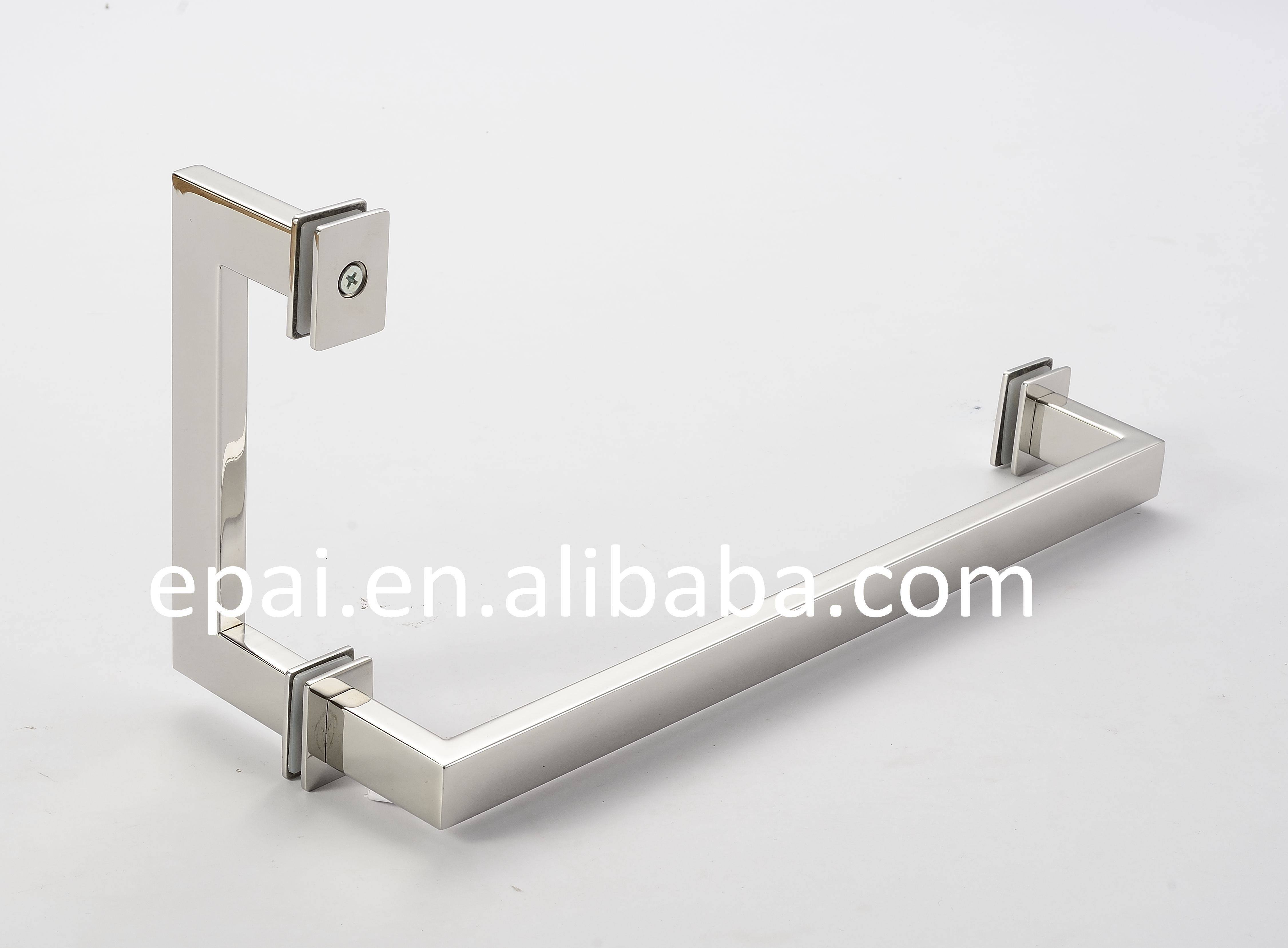 Square tube shower door handle