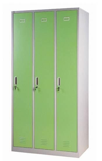 Direct factory 3 doors vertical steel clothes cabinet