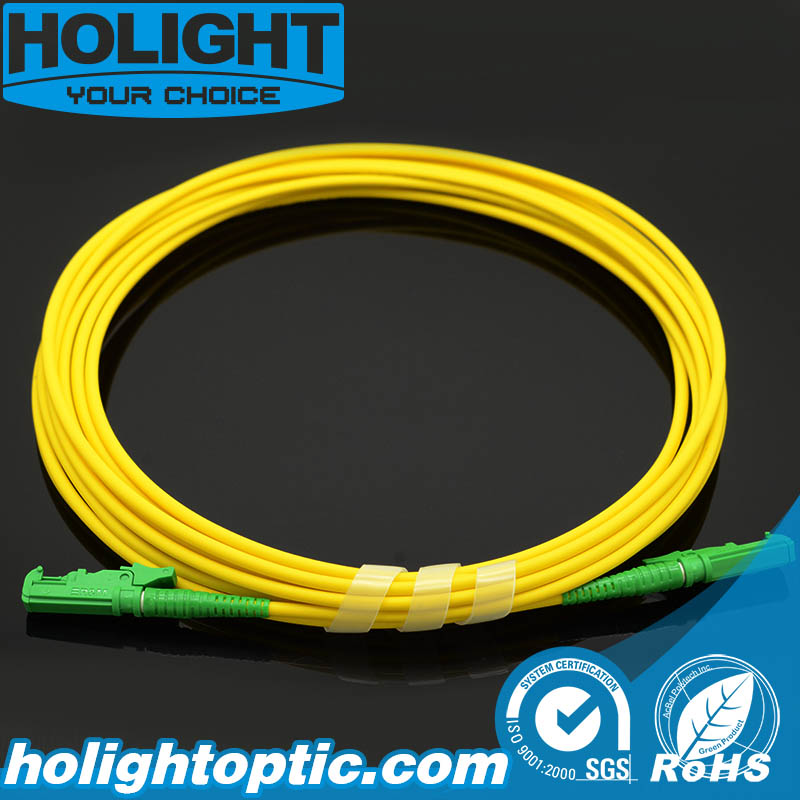 Fiber Optic Patch Cord E2000A to E2000A Simplex Sm Yellow