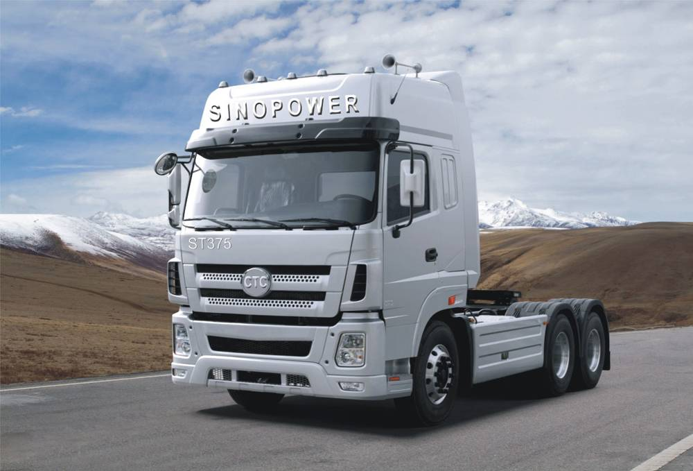 New hot sale CTC-SINO POWER 6x4 white tractor with sleeper