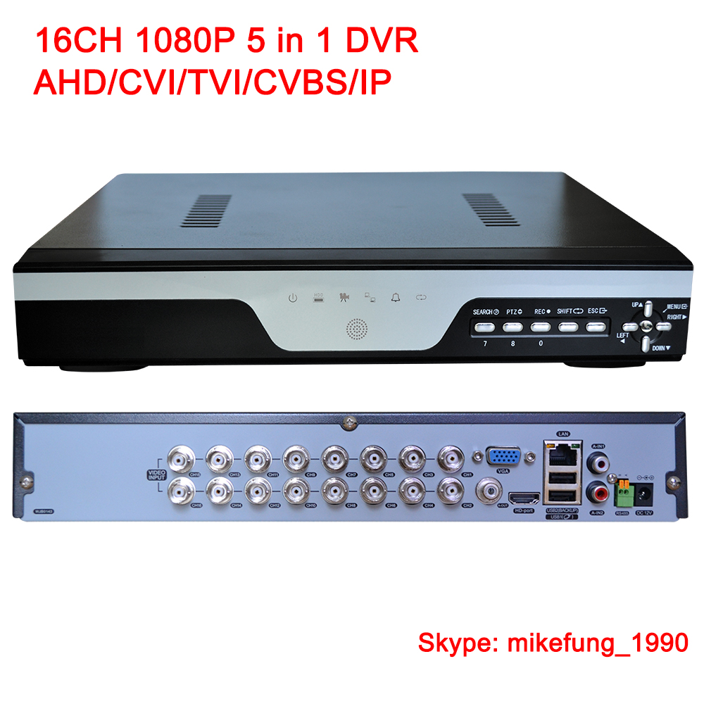 1080P H.264 Network DVR 16 Channel Support AHD CVI TVI Analog IP Cameras 5 in 1 DVR